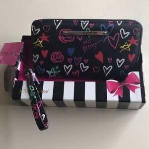 Betsey Johnson Zip Around Wristlet/Wallet